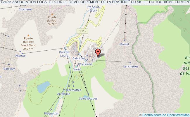 plan association Association Locale Pour Le Developpement De La Pratique Du Ski Et Du Tourisme En Montagne