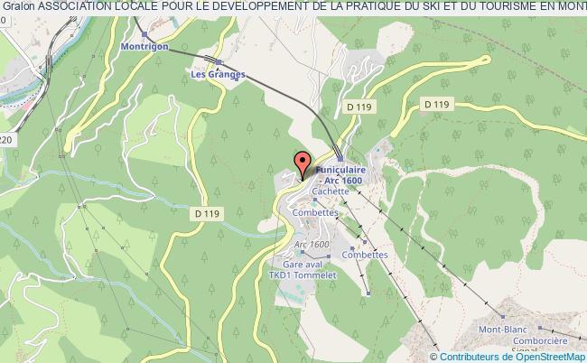 plan association Association Locale Pour Le Developpement De La Pratique Du Ski Et Du Tourisme En Montagne Sur La Station D'arc 1600