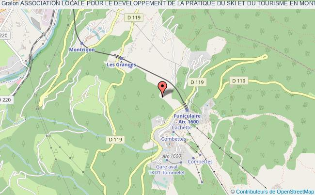 plan association Association Locale Pour Le Developpement De La Pratique Du Ski Et Du Tourisme En Montagne Sur La Station D'arc 1800