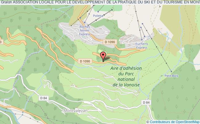 plan association Association Locale Pour Le Developpement De La Pratique Du Ski Et Du Tourisme En Montagne Sur La Station De La Rosiere 1850