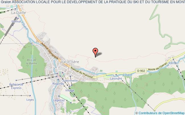 plan association Association Locale Pour Le Developpement De La Pratique Du Ski Et Du Tourisme En Montagne Sur La Station De Val D'isere