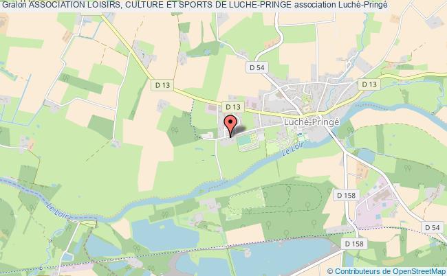 plan association Association Loisirs, Culture Et Sports De Luche-pringe