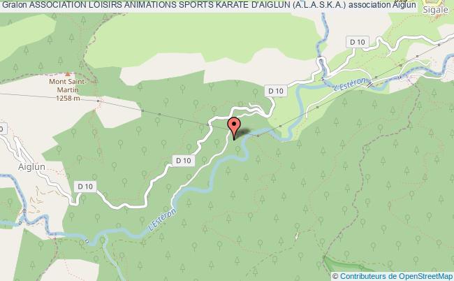 plan association Association Loisirs Animations Sports Karate D'aiglun (a.l.a.s.k.a.)