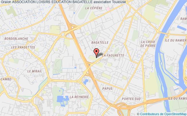 plan association Association Loisirs Education Bagatelle