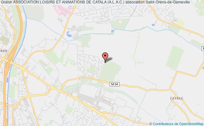 plan association Association Loisirs Et Animations De Catala (a.l.a.c.) Saint-Orens-de-Gameville