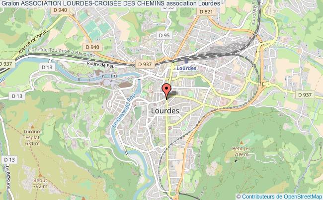 plan association Association Lourdes-croisÉe Des Chemins Lourdes