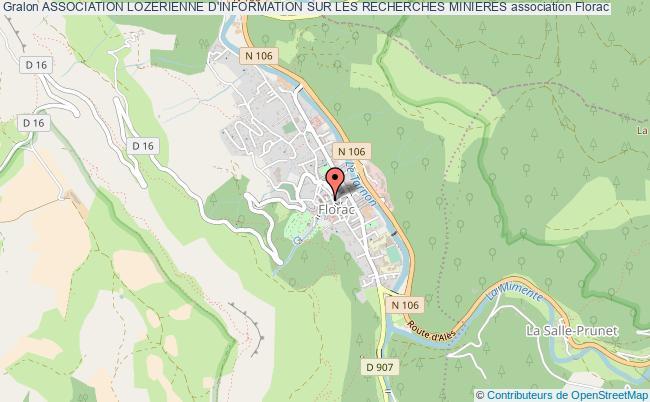 plan association Association Lozerienne D'information Sur Les Recherches Minieres