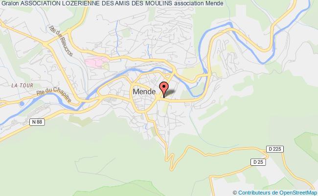 plan association Association Lozerienne Des Amis Des Moulins