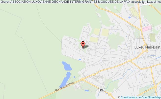 plan association Association Luxovienne D'Échange Intermigrant Et MosquÉe De La Paix
