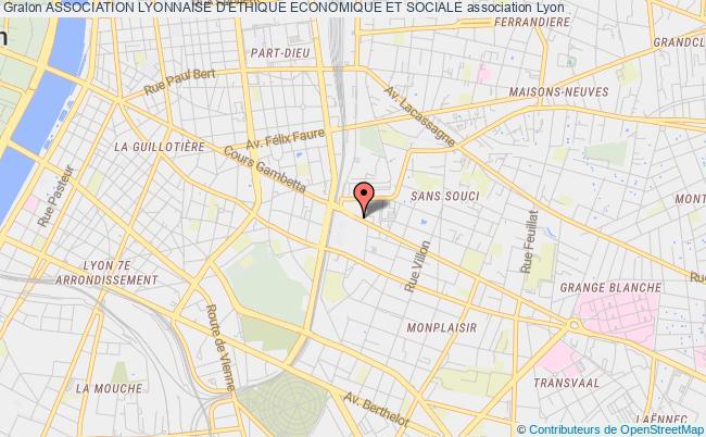 plan association Association Lyonnaise D'ethique Economique Et Sociale