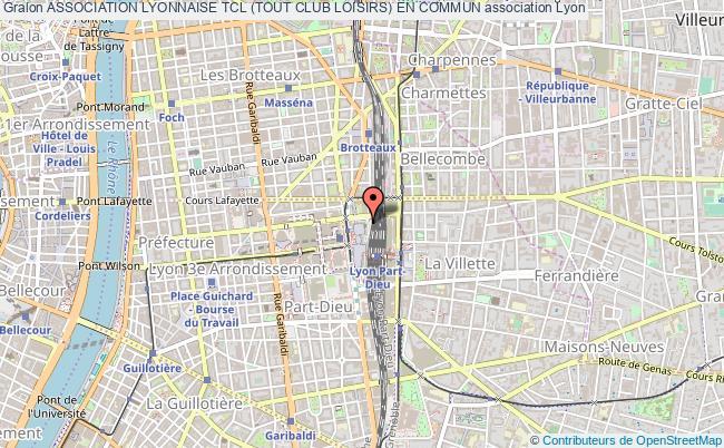 plan association Association Lyonnaise Tcl (tout Club Loisirs) En Commun Lyon