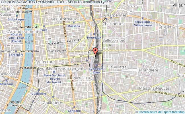 plan association Association Lyonnaise Trollsports Lyon 3e Arrondissement