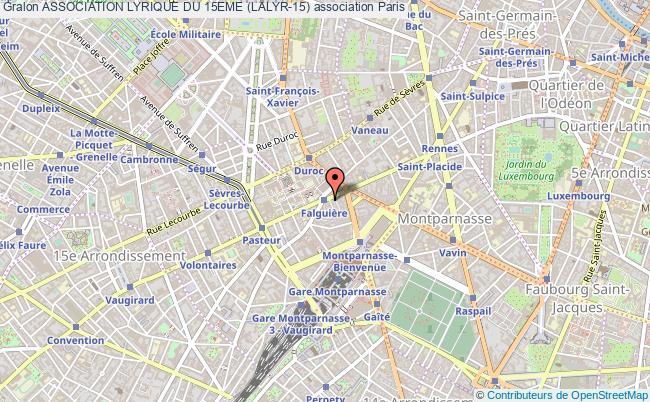 plan association Association Lyrique Du 15eme (lalyr-15) Paris