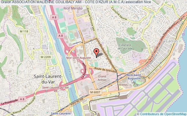 plan association Association Malienne Coulibaly Ami - Cote D'azur (a.m.c.a) Nice