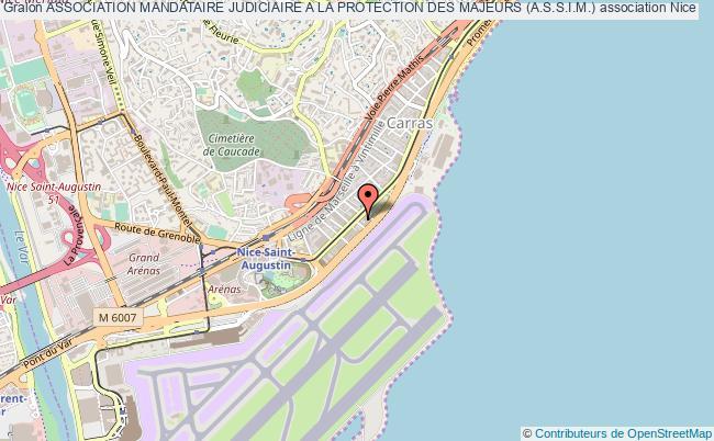 plan association Association Mandataire Judiciaire A La Protection Des Majeurs (a.s.s.i.m.) Nice