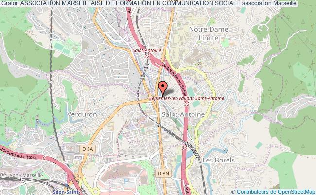 plan association Association Marseillaise De Formation En Communication Sociale Marseille