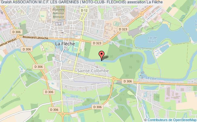 plan association Association M.c.f. Les Garennes ( Moto-club- Flechois)