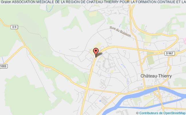 plan association Association Medicale De La Region De Chateau-thierry Pour La Formation Continue Et La Promotion Professionnelle Château-Thierry