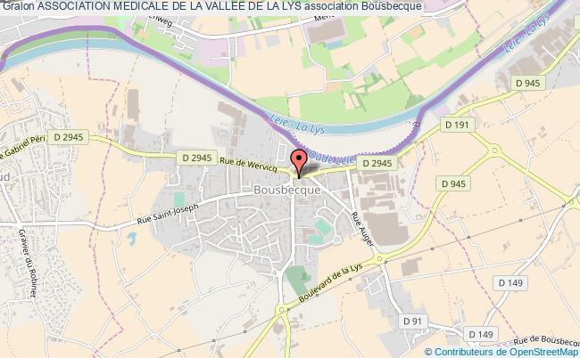 plan association Association Medicale De La Vallee De La Lys Bousbecque