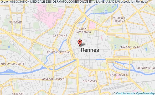 plan association Association Medicale Des Dermatologues D'ille Et Vilaine (a.m.d.i.v)