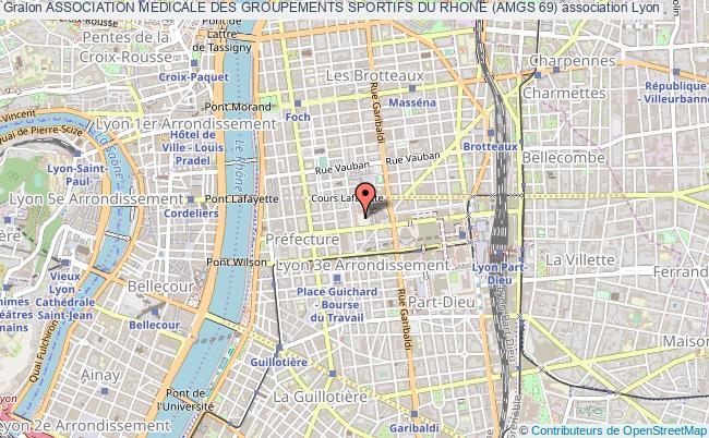 plan association Association Medicale Des Groupements Sportifs Du Rhone (amgs 69)