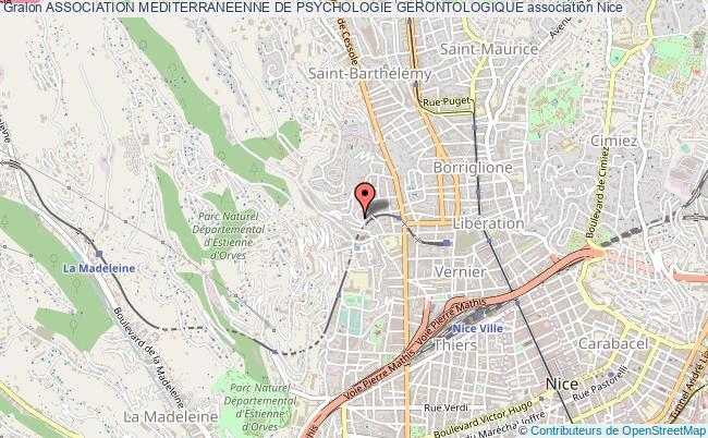 plan association Association Mediterraneenne De Psychologie Gerontologique Nice