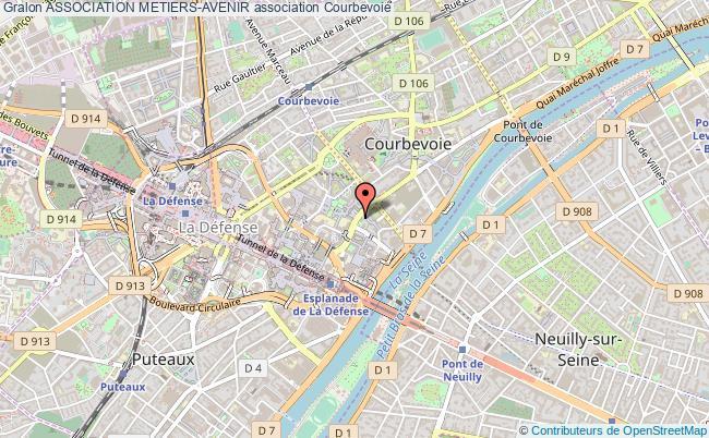 plan association Association Metiers-avenir Courbevoie