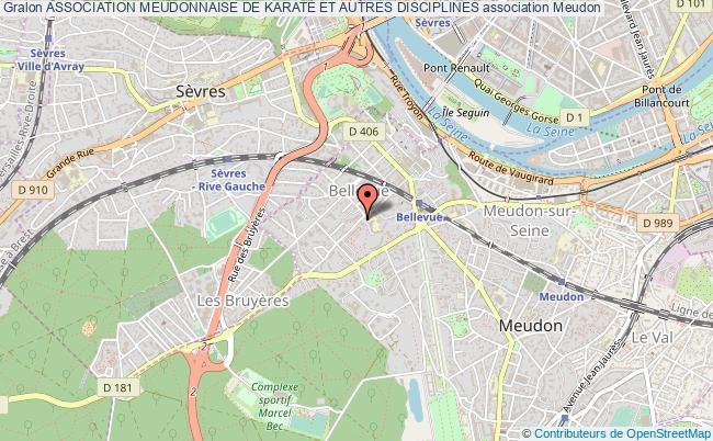 plan association Association Meudonnaise De KaratÉ Et Autres Disciplines