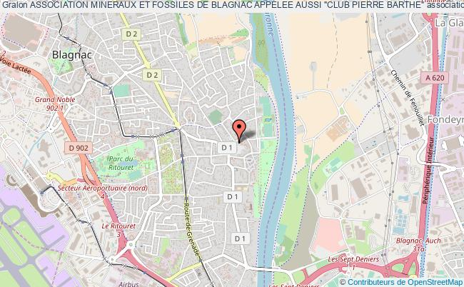 """plan association Association Mineraux Et Fossiles De Blagnac Appelee Aussi """"club Pierre Barthe"""""""