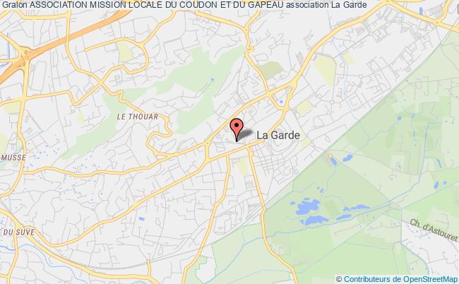 plan association Association Mission Locale Du Coudon Et Du Gapeau