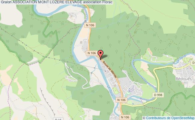 plan association Association Mont Lozere Elevage