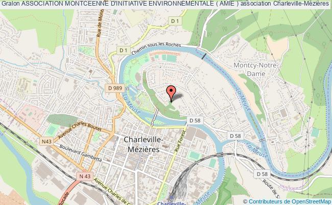 plan association Association Montceenne D'initiative Environnementale ( Amie )