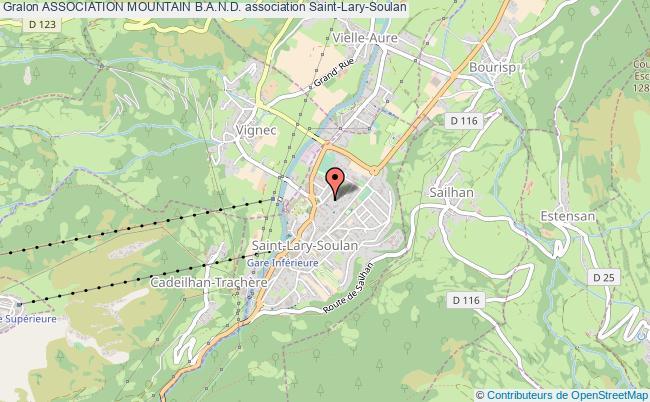 plan association Association Mountain B.a.n.d. Saint-Lary-Soulan