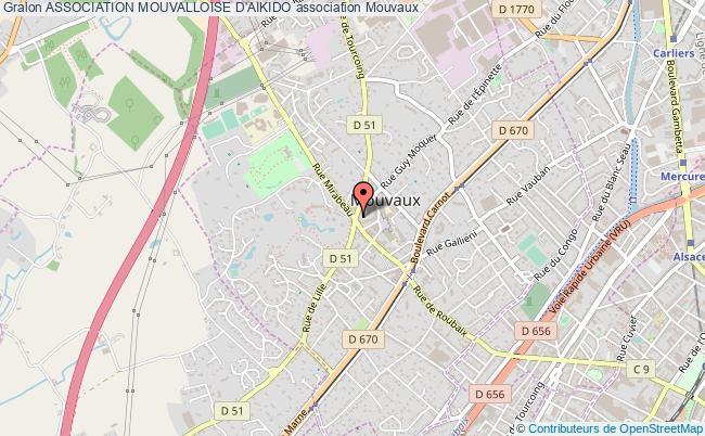 plan association Association Mouvalloise D'aikido