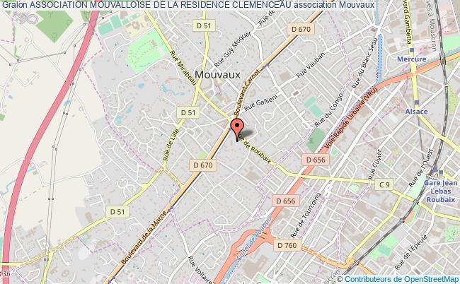 plan association Association Mouvalloise De La Residence Clemenceau
