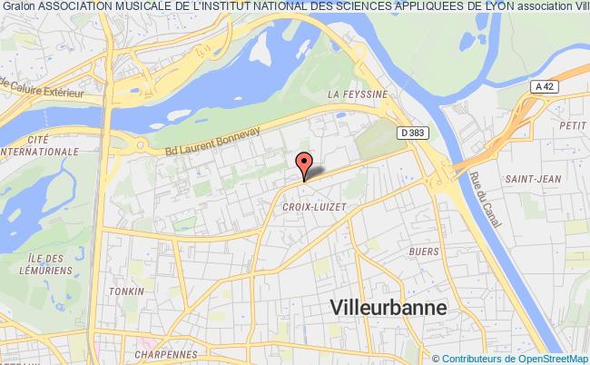 plan association Association Musicale De L'institut National Des Sciences Appliquees De Lyon