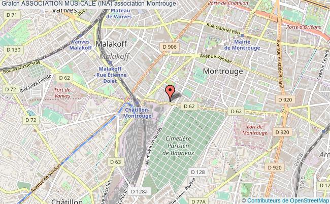 plan association Association Musicale (ina) Montrouge