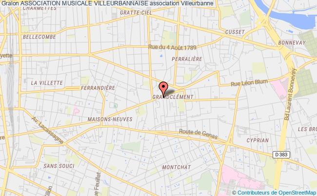 plan association Association Musicale Villeurbannaise