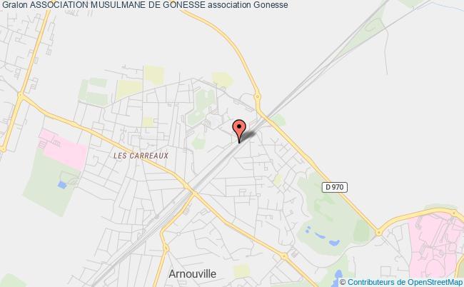plan association Association Musulmane De Gonesse Gonesse