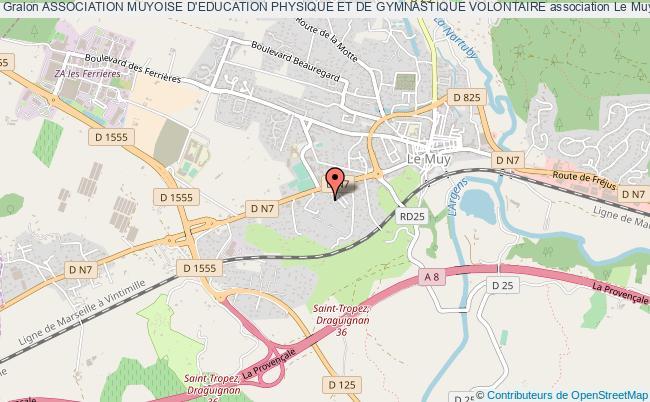 plan association Association Muyoise D'education Physique Et De Gymnastique Volontaire Le    Muy