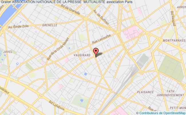 plan association Association Nationale De La Presse  Mutualiste Paris