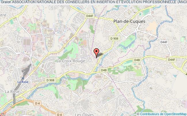 plan association Association Nationale Des Conseillers En Insertion Et Evolution Professionnelle (anciep) Marseille