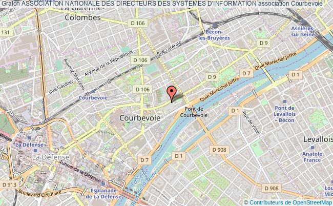plan association Association Nationale Des Directeurs Des Systemes D'information Courbevoie