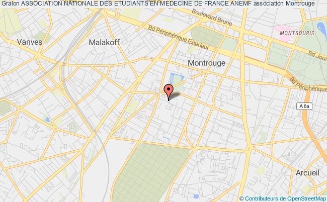 plan association Association Nationale Des Etudiants En Medecine De France Anemf Montrouge