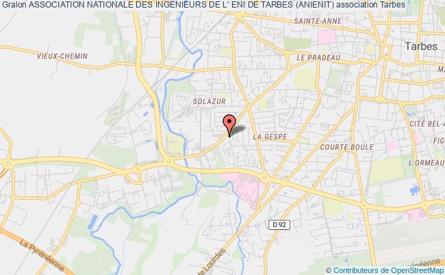 plan association Association Nationale Des Ingenieurs De L' Eni De Tarbes (anienit) Tarbes