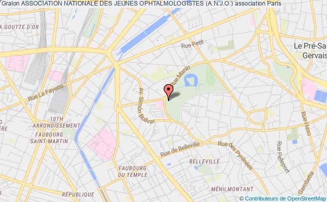 plan association Association Nationale Des Jeunes Ophtalmologistes (a.n.j.o.) Paris