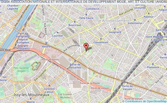 plan association Association Nationale Et Internationale De Developpement Mode, Art, Et Culture (anidmac) Paris