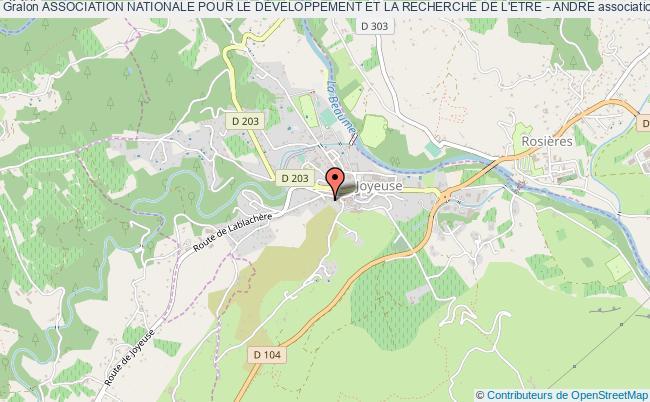 plan association Association Nationale Pour Le DÉveloppement Et La Recherche De L'etre - Andre Joyeuse