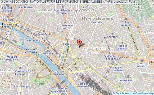 plan association Association Nationale Pour Les Formations Specialisees (anfs) Paris
