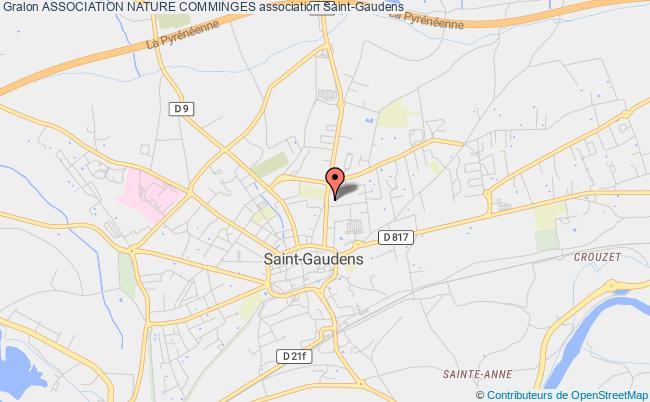 plan association Association Nature Comminges Saint-Gaudens